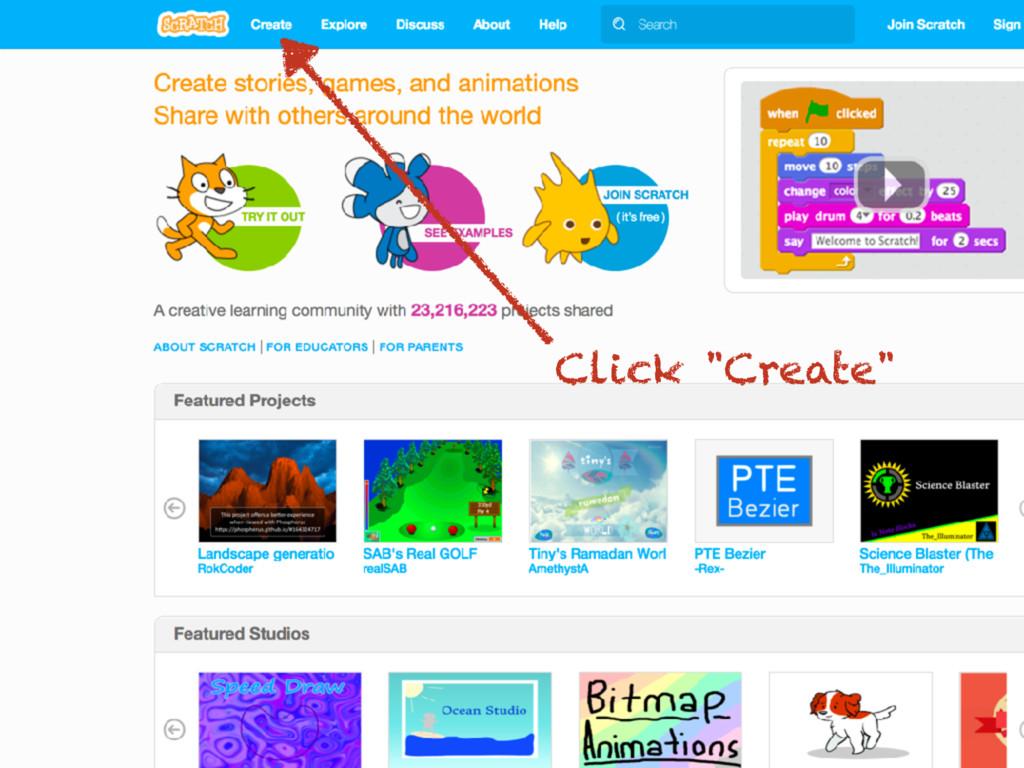"Click ""Create"""
