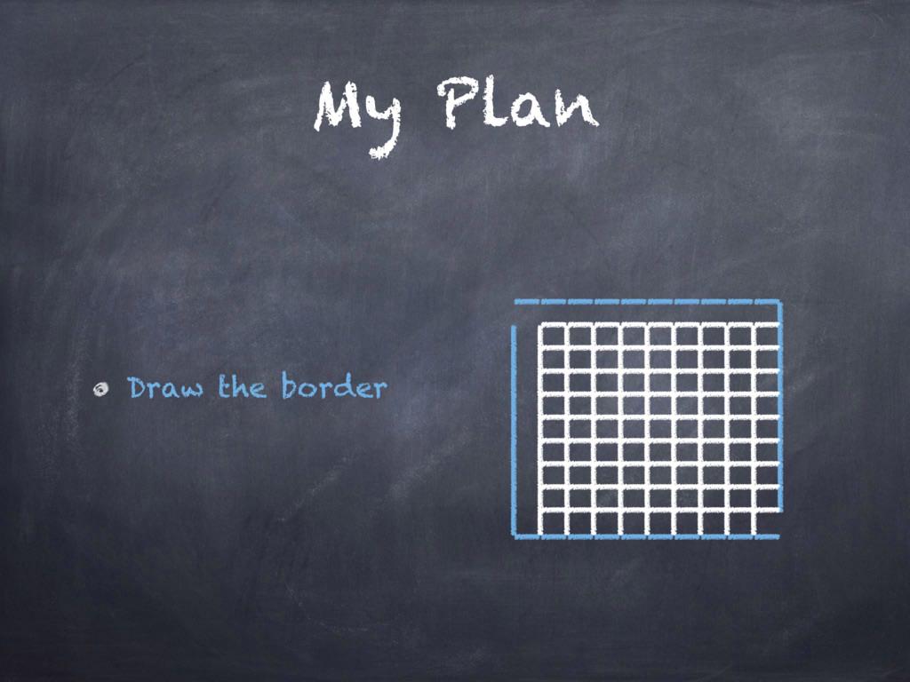 My Plan Draw the border