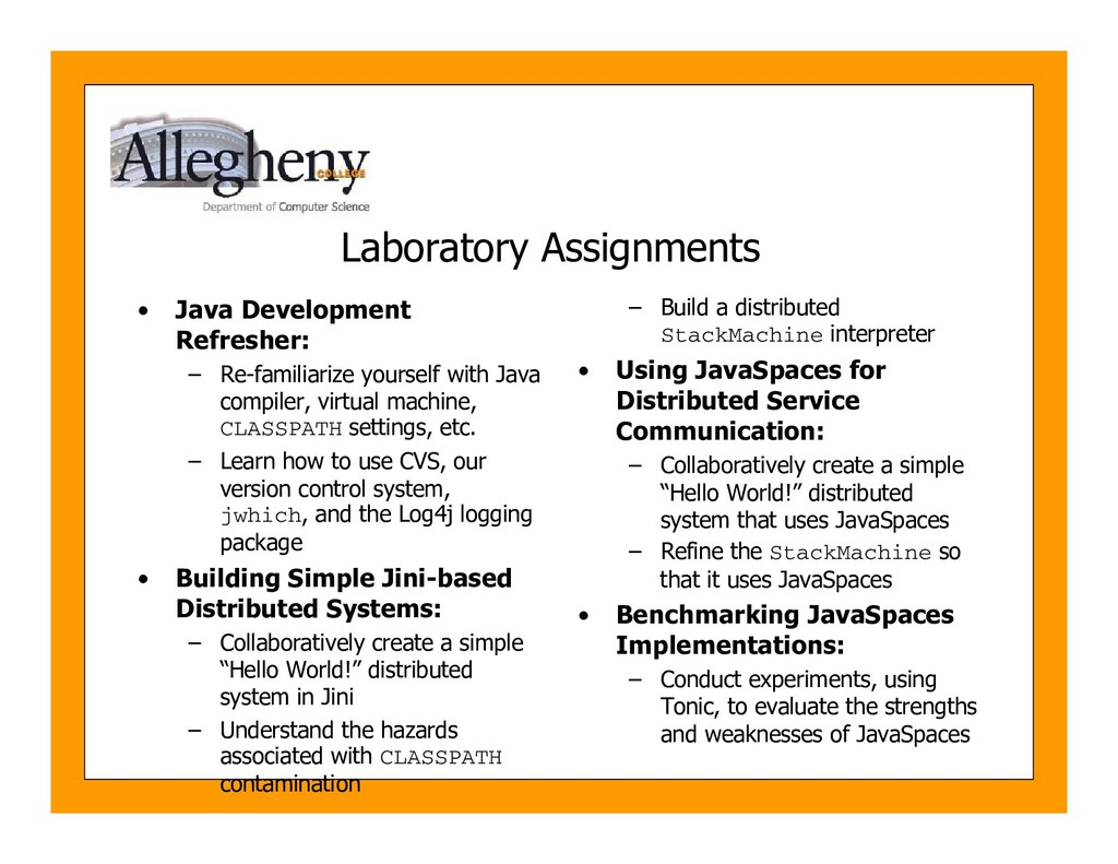 Laboratory Assignments • Java Development Refre...