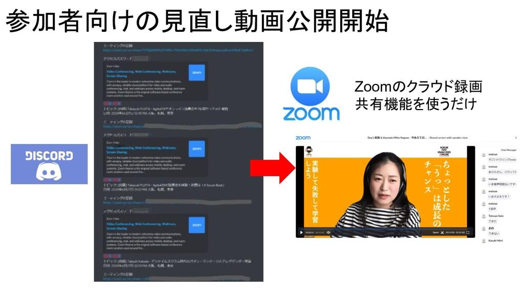 参加者向けの見直し動画公開開始 Zoomのクラウド録画 共有機能を使うだけ
