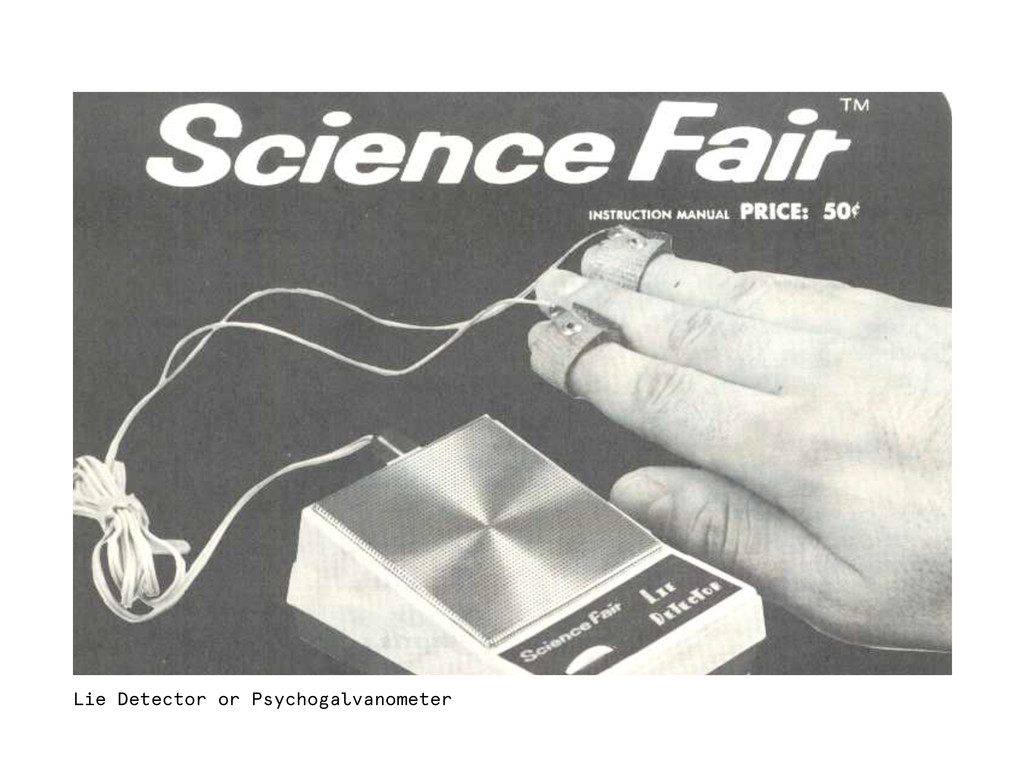 Lie Detector or Psychogalvanometer