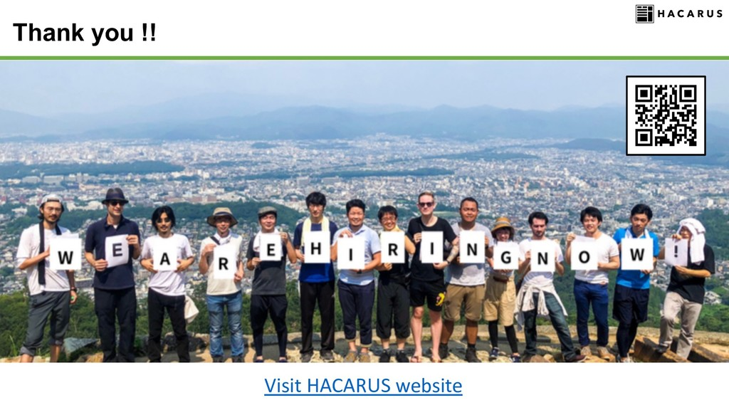 Thank you !! Visit HACARUS website