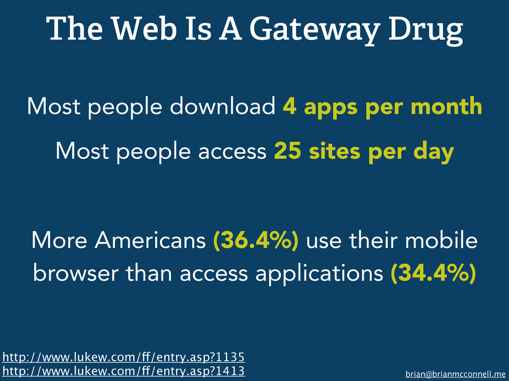 brian@brianmcconnell.me The Web Is A Gateway Dr...