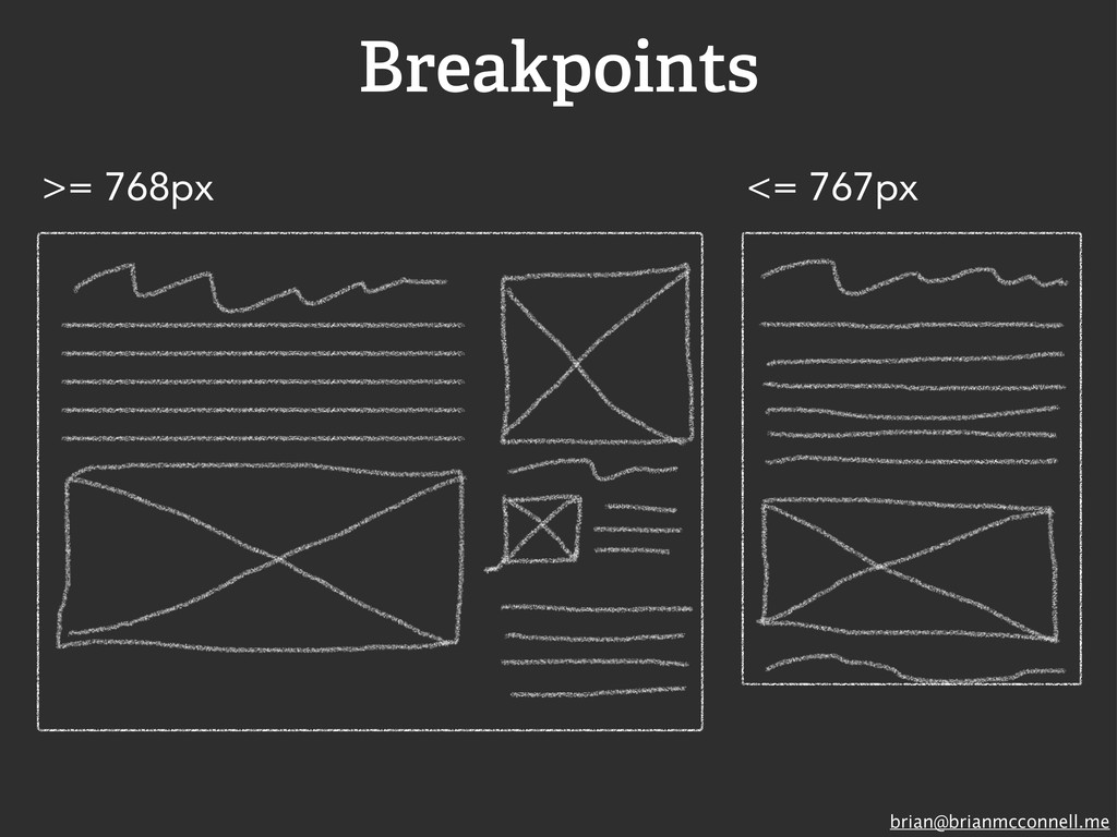 brian@brianmcconnell.me Breakpoints >= 768px <=...
