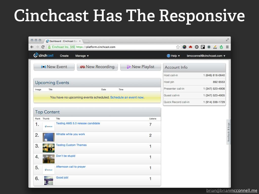 brian@brianmcconnell.me Cinchcast Has The Respo...