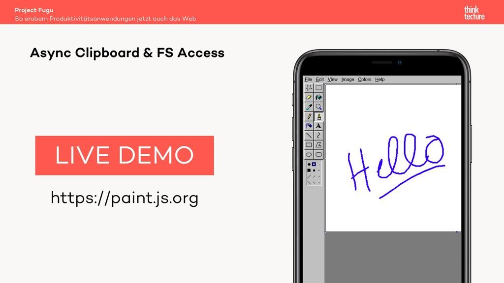 https://paint.js.org LIVE DEMO Project Fugu So ...