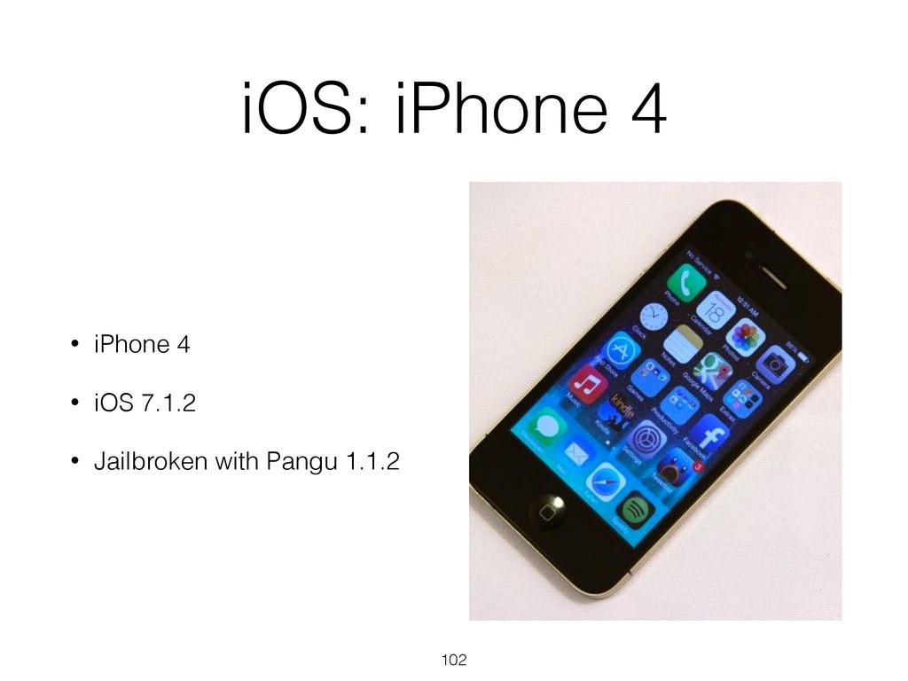 iOS: iPhone 4 • iPhone 4 • iOS 7.1.2 • Jailbrok...