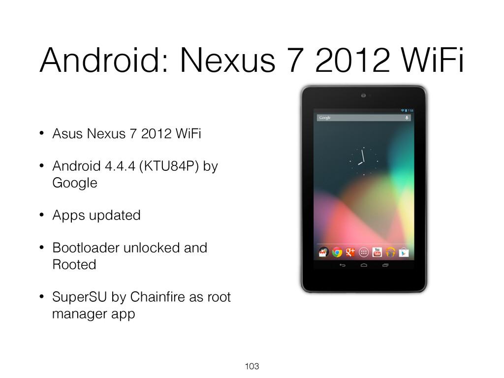 Android: Nexus 7 2012 WiFi • Asus Nexus 7 2012 ...