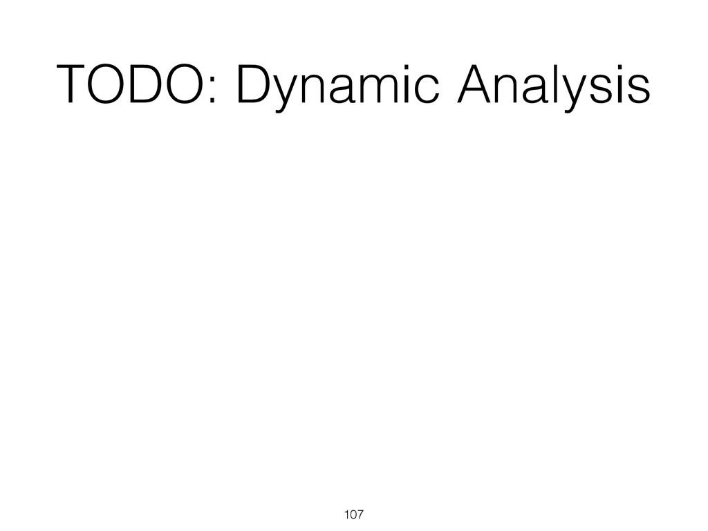 TODO: Dynamic Analysis 107