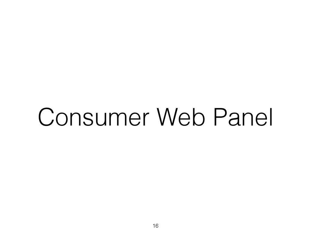 Consumer Web Panel 16