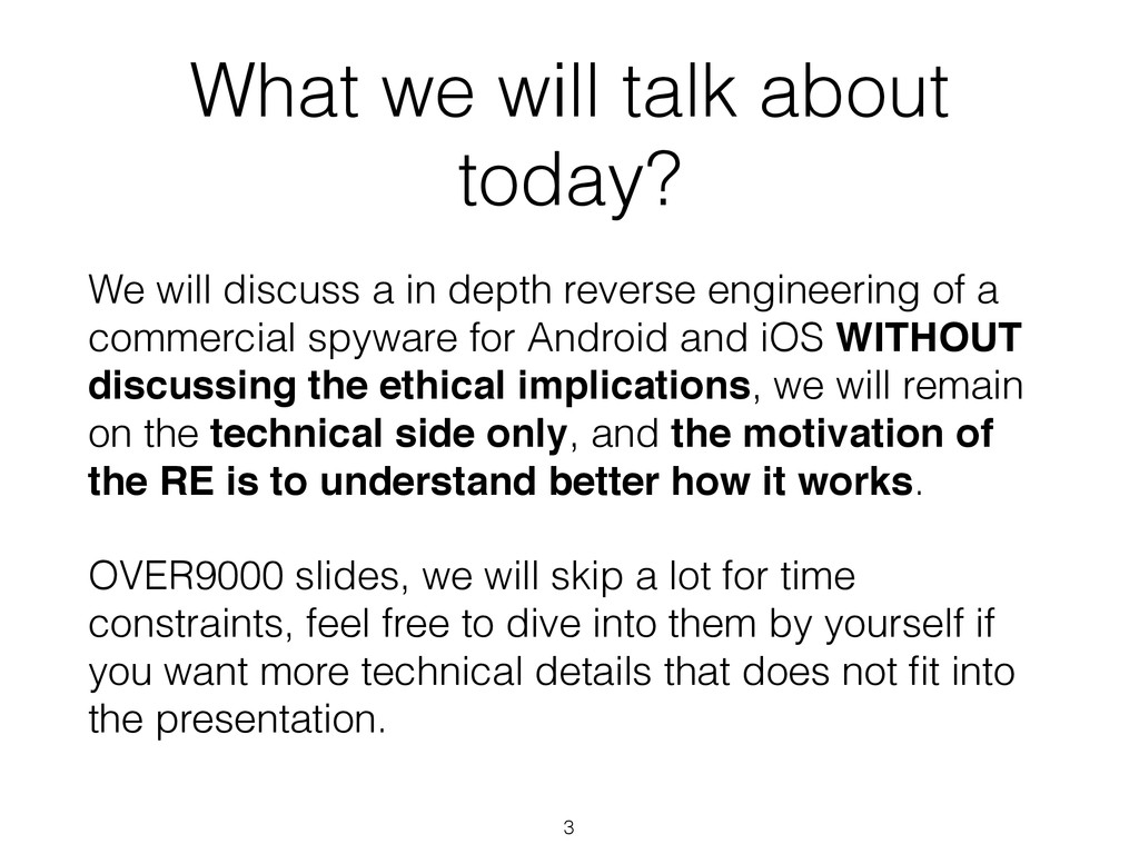 What we will talk about today? 3 We will discus...