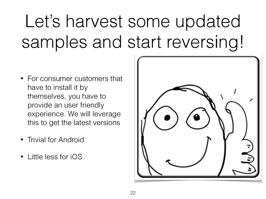 Let's harvest some updated samples and start re...