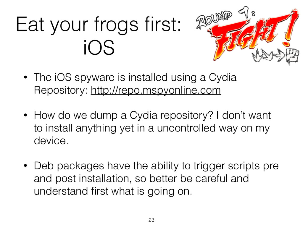 Eat your frogs first: iOS • The iOS spyware is i...