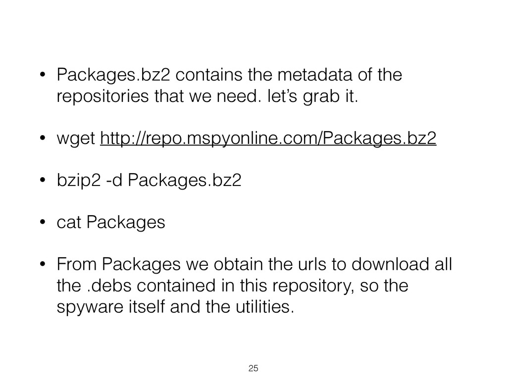• Packages.bz2 contains the metadata of the rep...