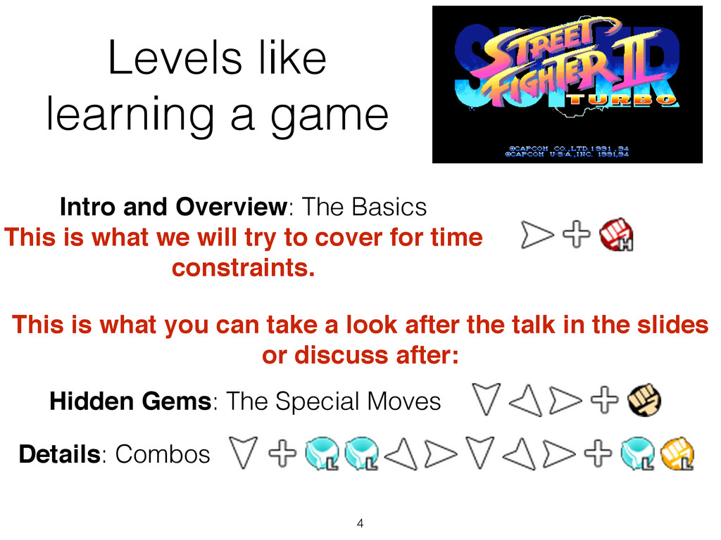 Levels like learning a game 4 Intro and Overvie...