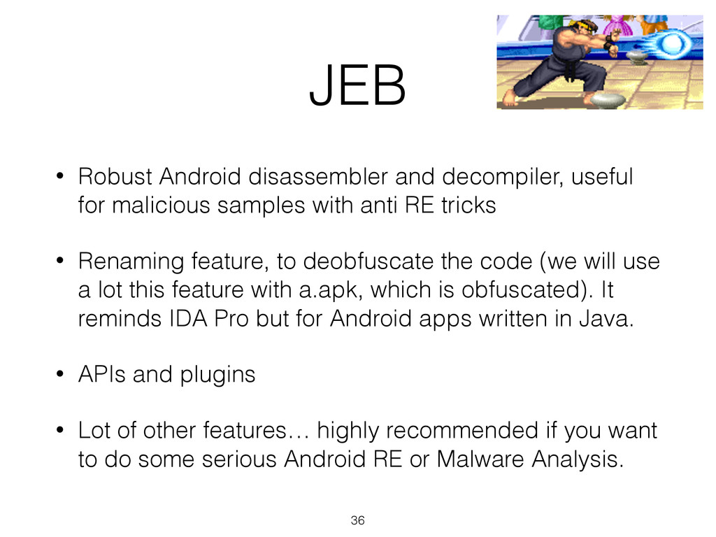 JEB • Robust Android disassembler and decompile...