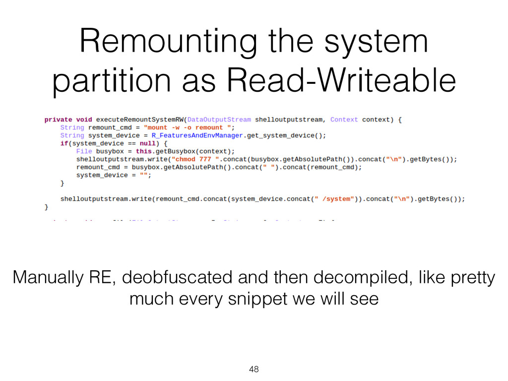 Remounting the system partition as Read-Writeab...