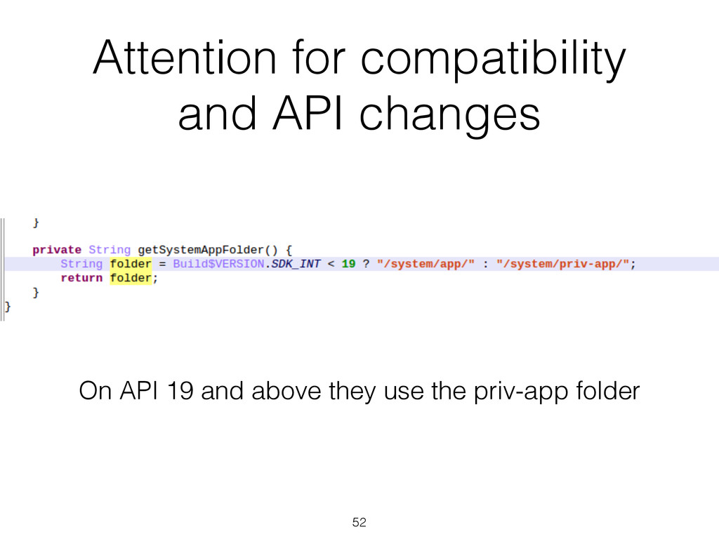Attention for compatibility and API changes 52 ...