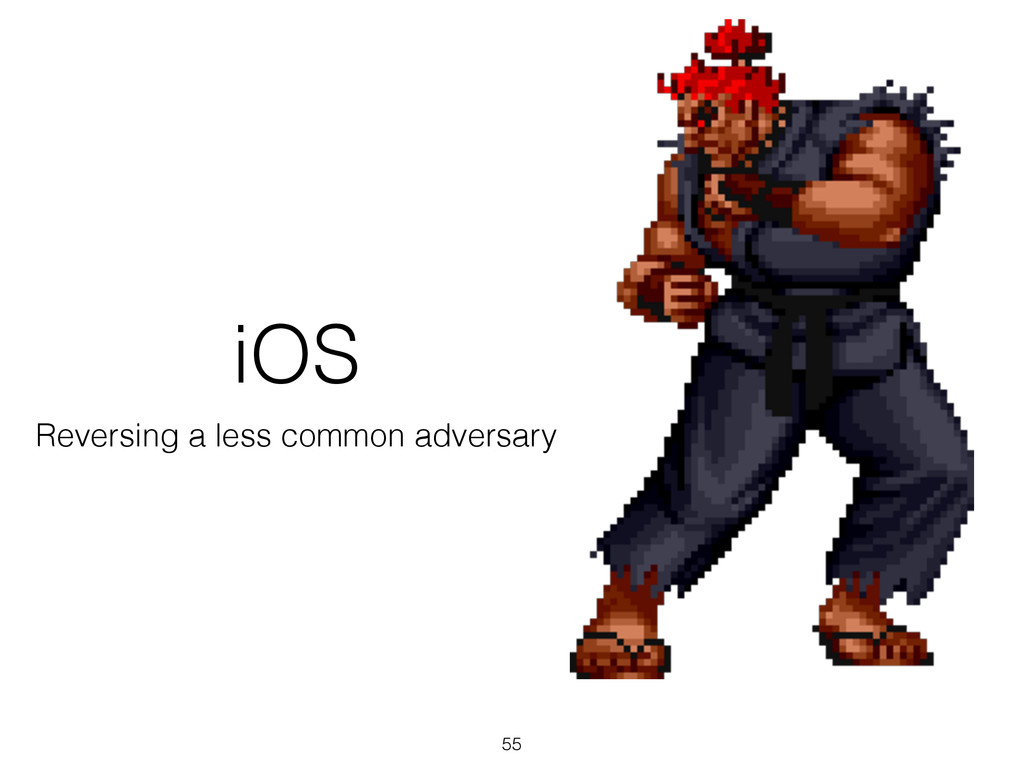 iOS Reversing a less common adversary 55