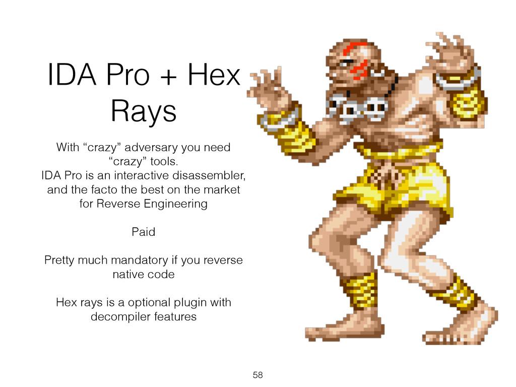 "IDA Pro + Hex Rays With ""crazy"" adversary you n..."