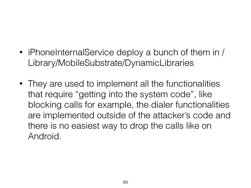 • iPhoneInternalService deploy a bunch of them ...
