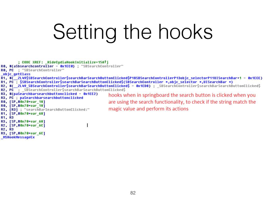 Setting the hooks 82