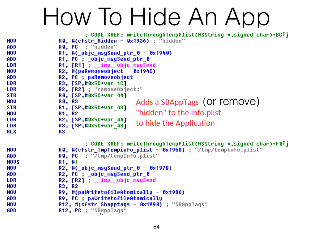 How To Hide An App 84 (or remove)
