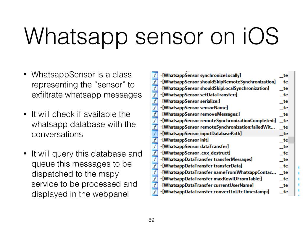 Whatsapp sensor on iOS • WhatsappSensor is a cl...