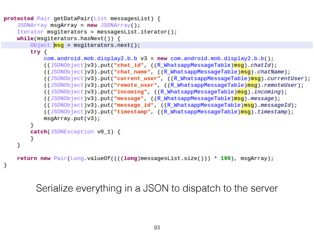 Serialize everything in a JSON to dispatch to t...