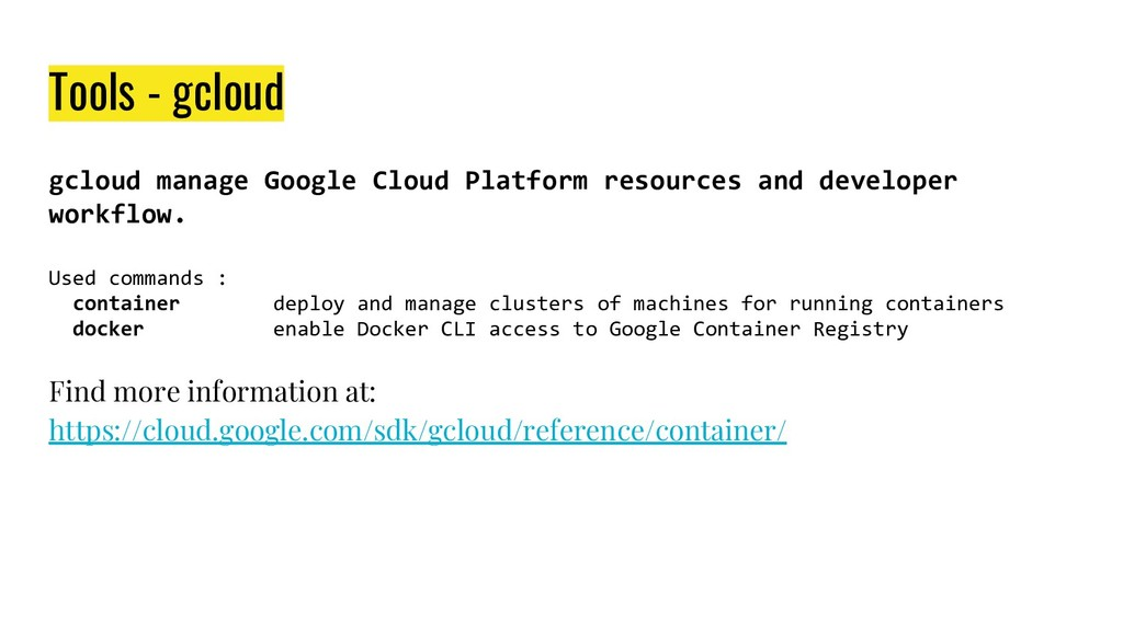gcloud manage Google Cloud Platform resources a...