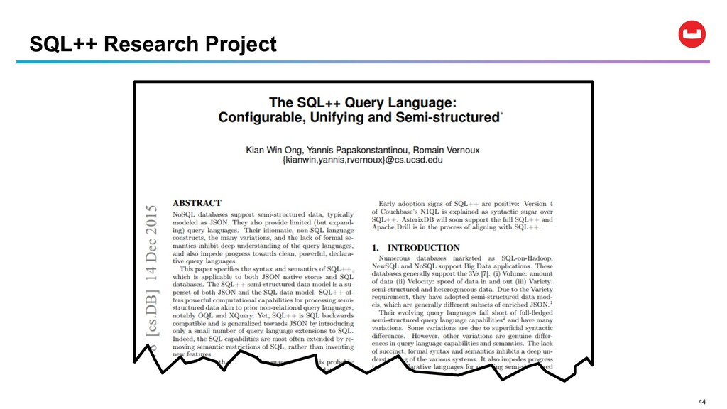 44 SQL++ Research Project