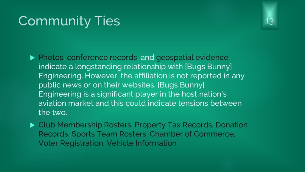 Community Ties  Photos, conference records, an...