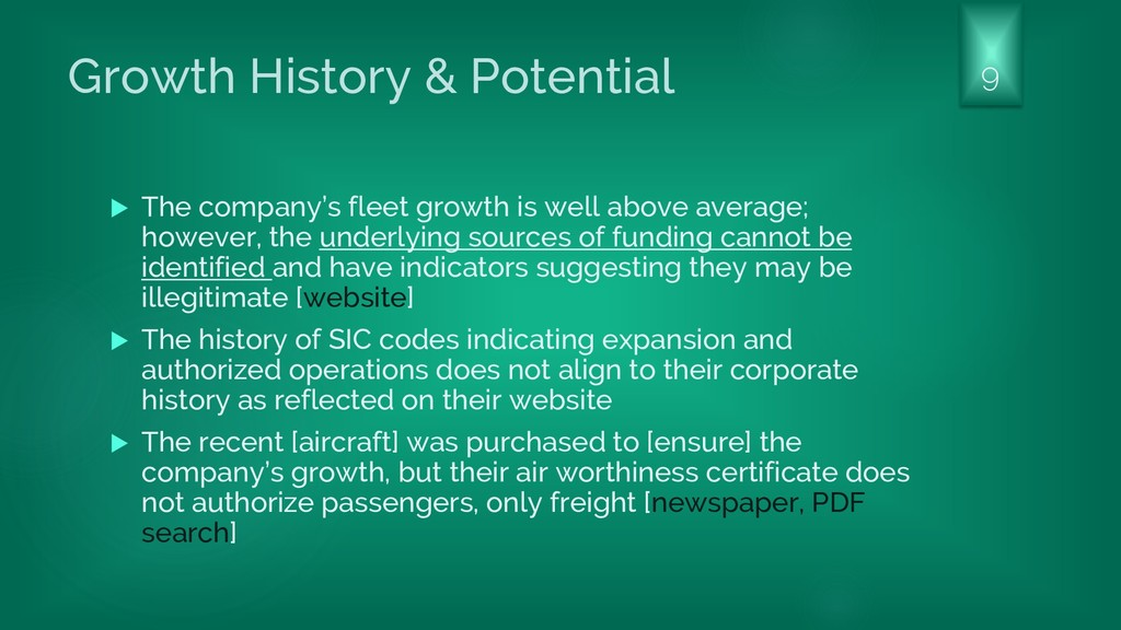 Growth History & Potential  The company's flee...