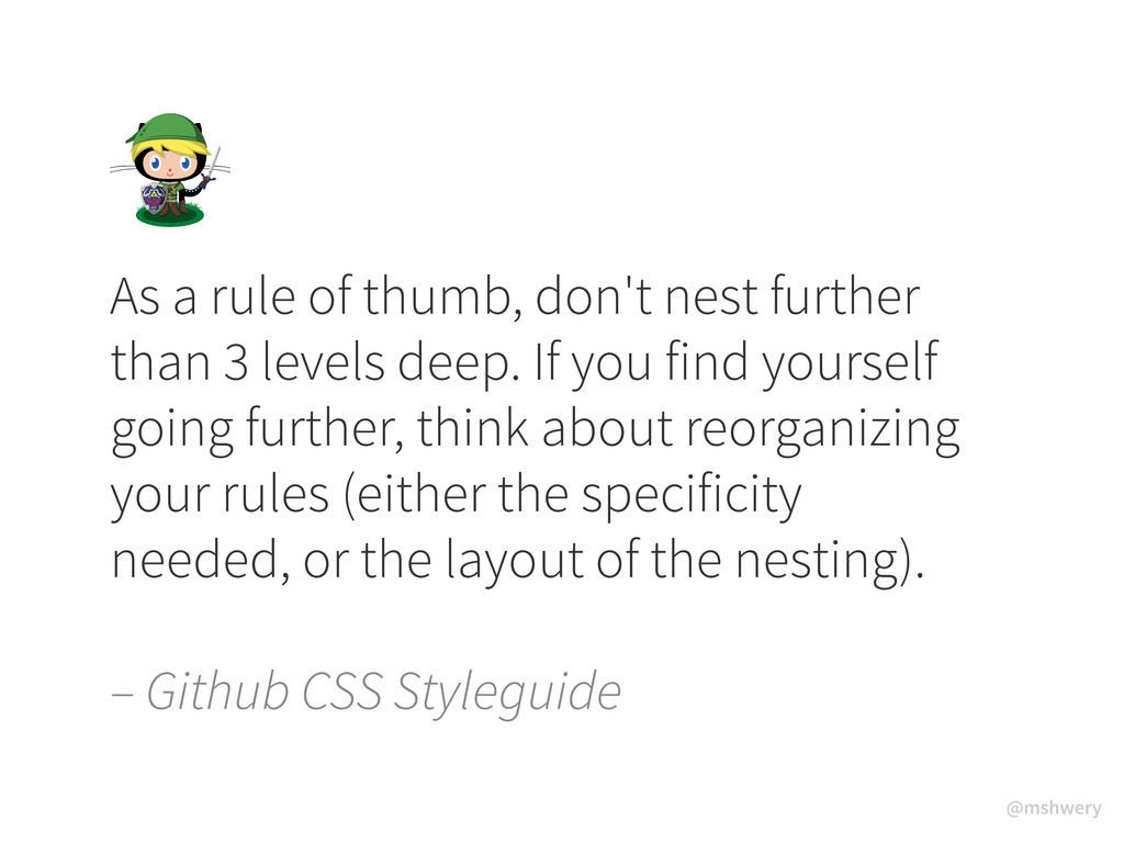 @mshwery As a rule of thumb, don't nest further...