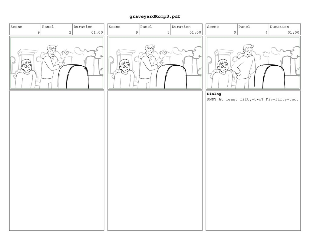 Scene 9 Panel 2 Duration 01:00 Scene 9 Panel 3 ...