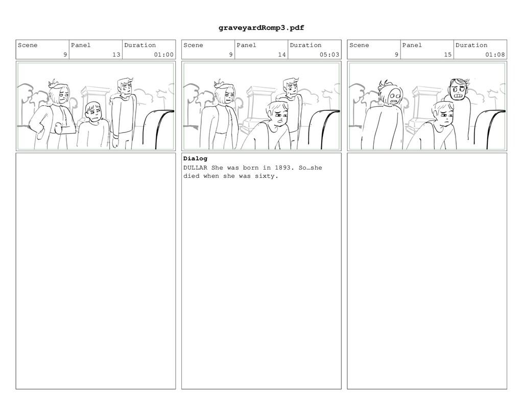 Scene 9 Panel 13 Duration 01:00 Scene 9 Panel 1...