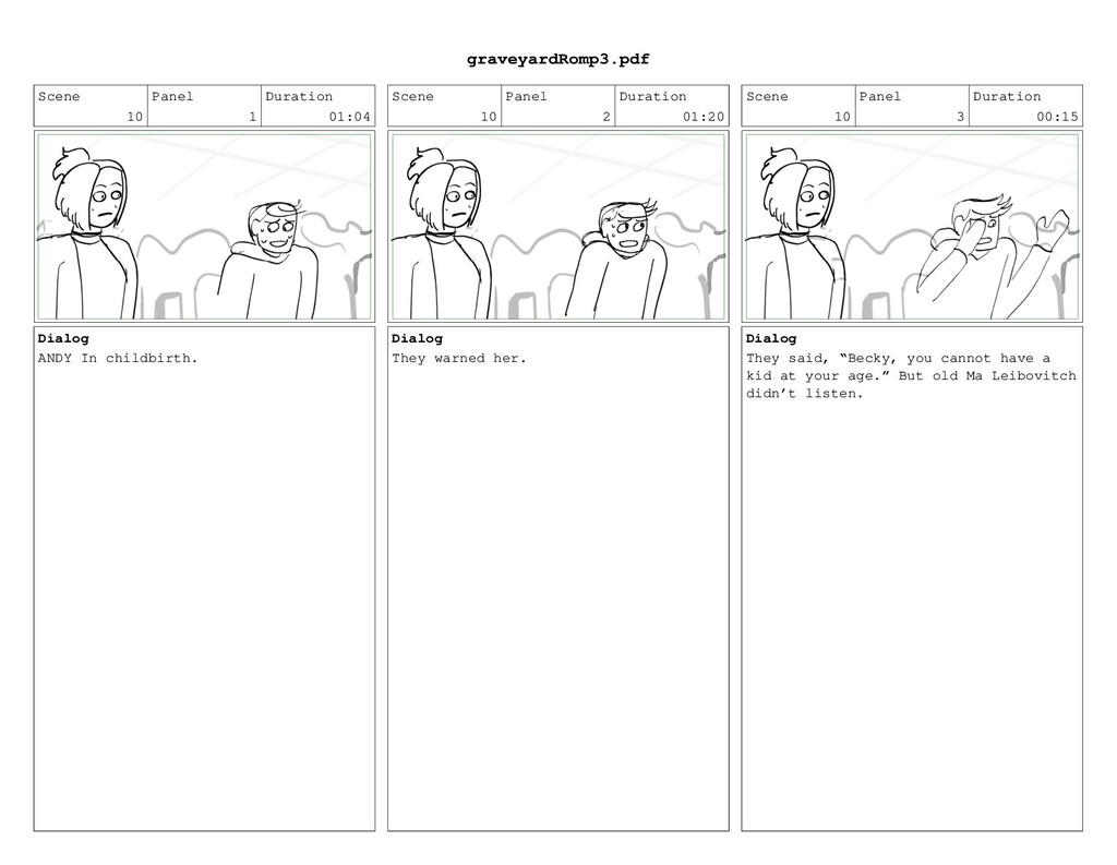 Scene 10 Panel 1 Duration 01:04 Dialog ANDY In ...