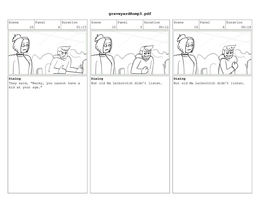 Scene 10 Panel 4 Duration 01:15 Dialog They sai...