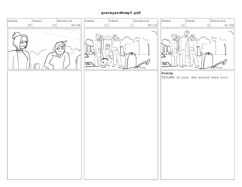 Scene 10 Panel 13 Duration 00:08 Scene 11 Panel...