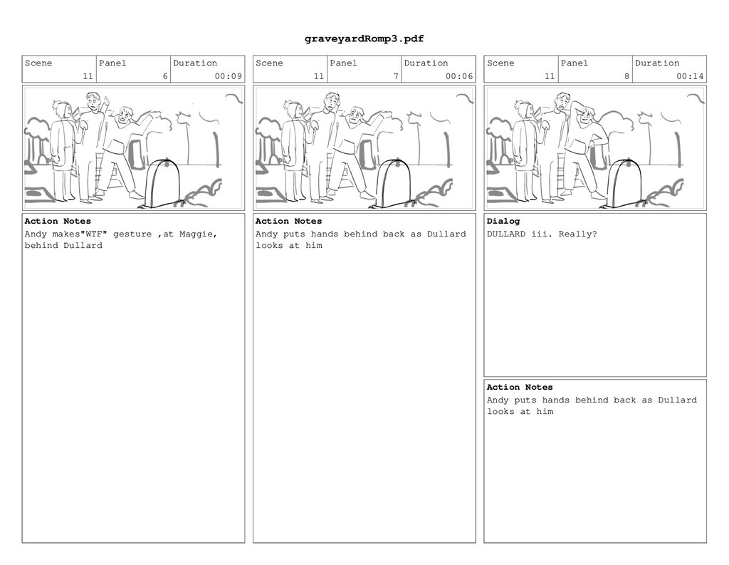 Scene 11 Panel 6 Duration 00:09 Action Notes An...