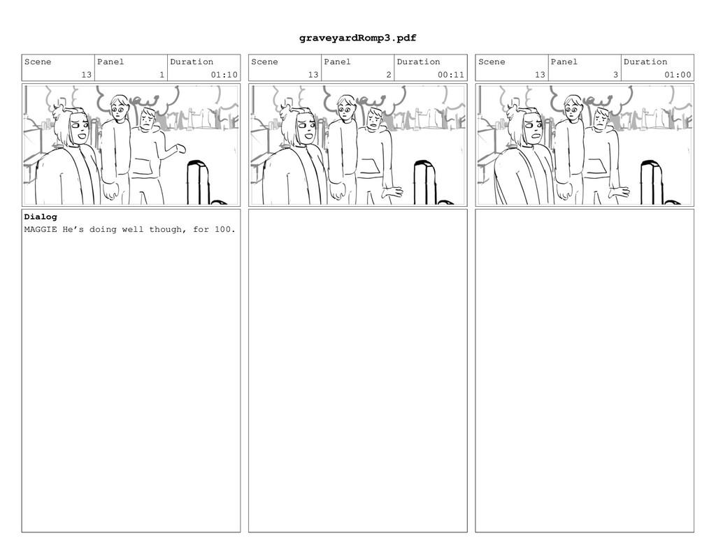 Scene 13 Panel 1 Duration 01:10 Dialog MAGGIE H...
