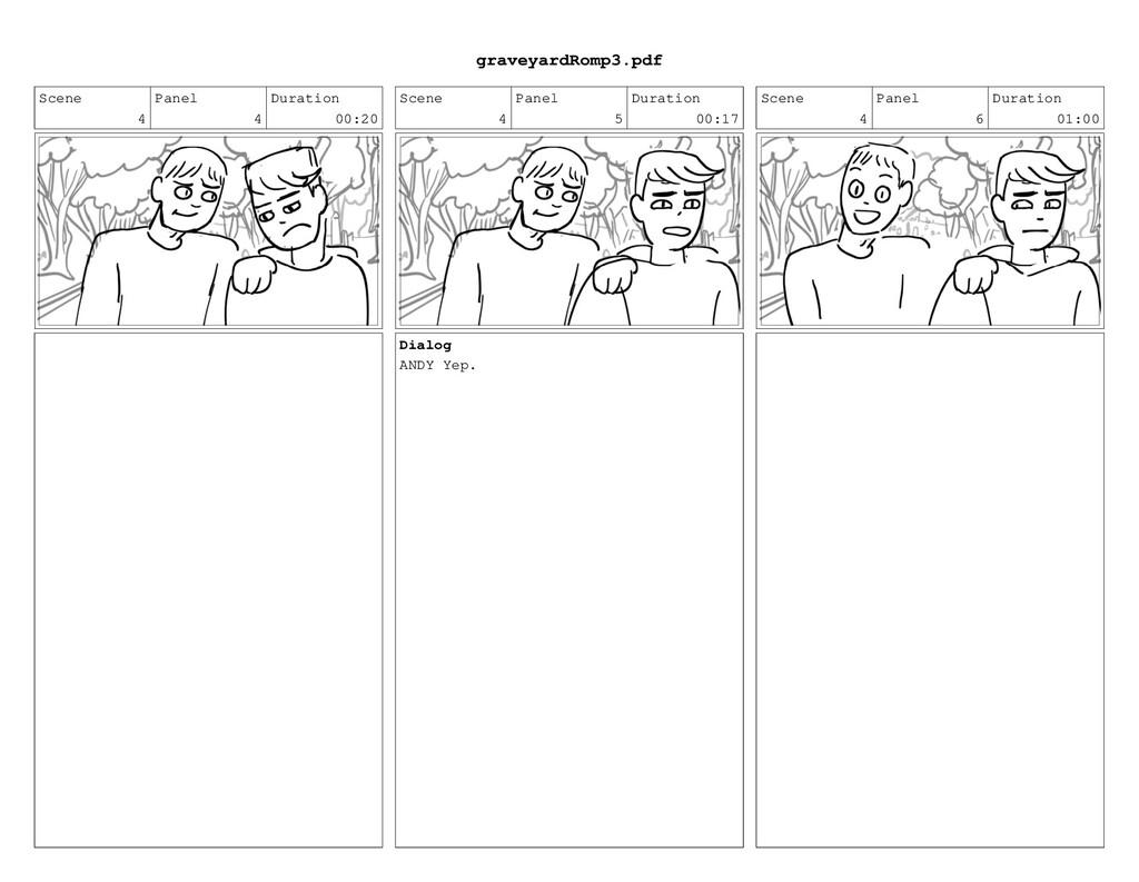 Scene 4 Panel 4 Duration 00:20 Scene 4 Panel 5 ...