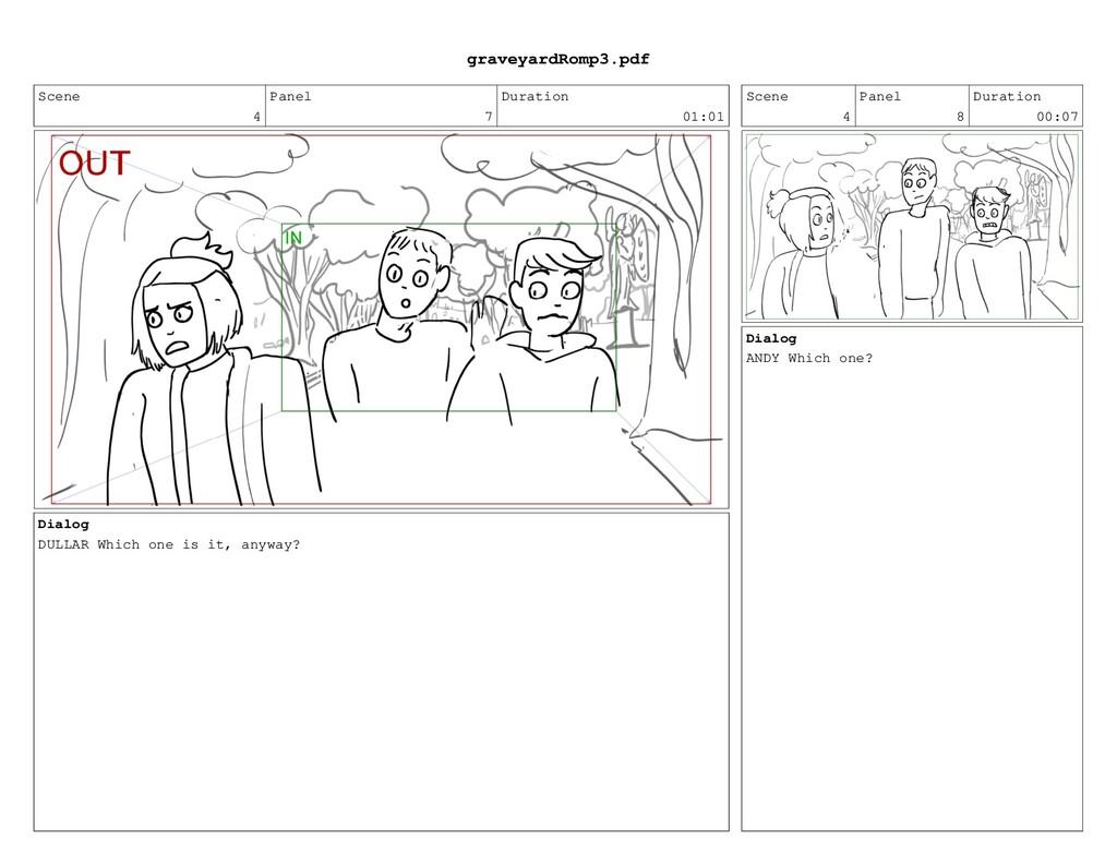 Scene 4 Panel 7 Duration 01:01 Dialog DULLAR Wh...