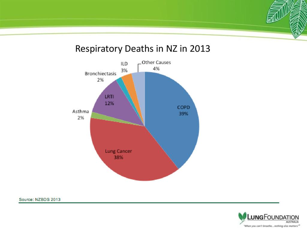 Respiratory Deaths in NZ in 2013