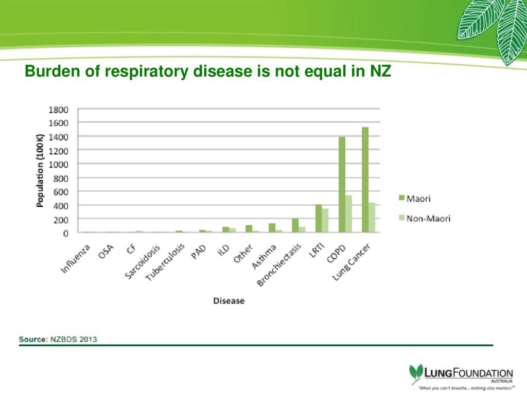 Burden of respiratory disease is not equal in NZ