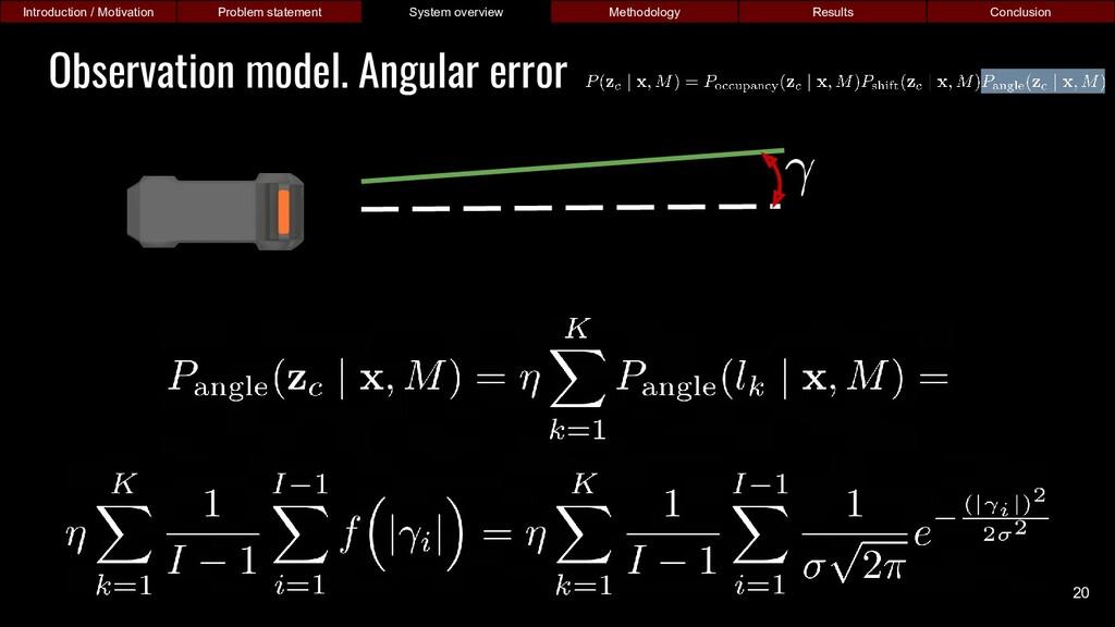 Observation model. Angular error Introduction /...