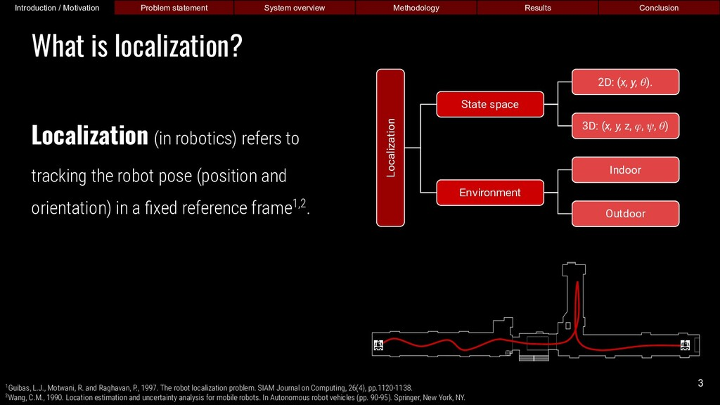 Localization (in robotics) refers to tracking t...