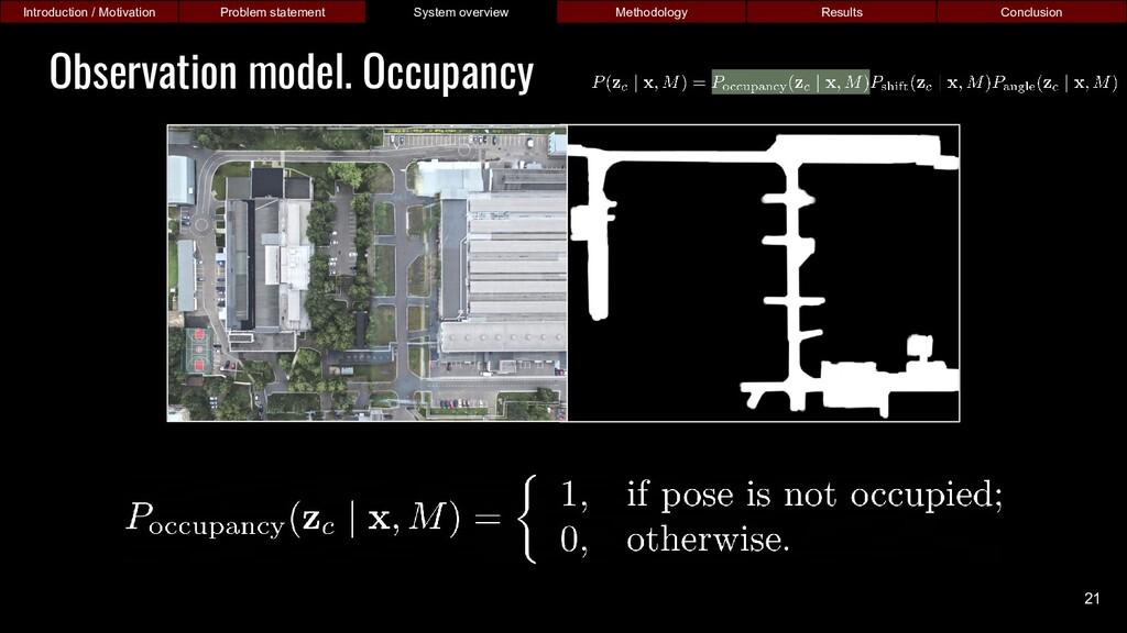 Observation model. Occupancy Introduction / Mot...