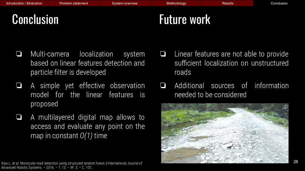 ❏ Multi-camera localization system based on lin...